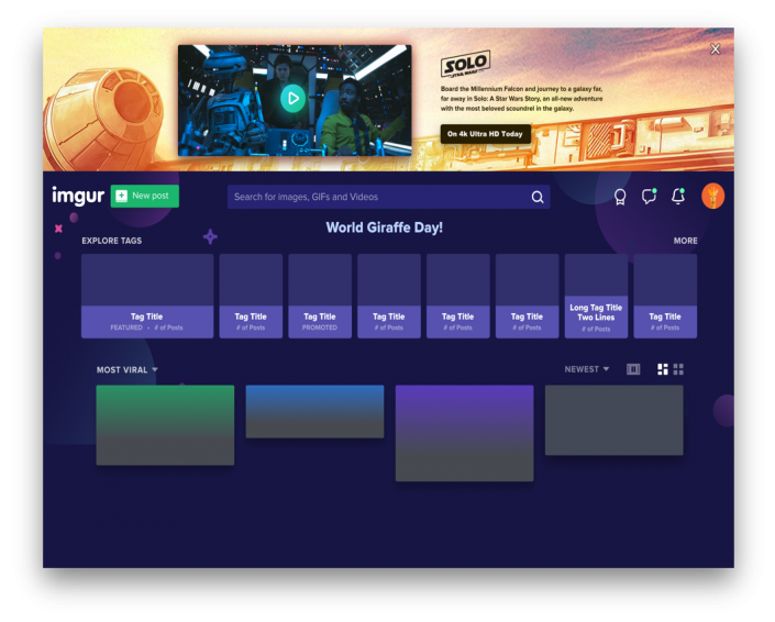 Video Desktop Ad auf imgur