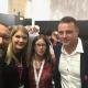 DMEXCO 2019 – Purpur Media meets Smartclip: Bernd Platzer (Purpur Media), Julia Siegert (Smartclip), Nina Moog (Purpur Media), Frank Erdmann und Marten Fischer (beide Smartclip).