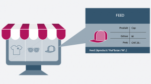 Die Basis produktbasierter Werbung ist ein bestehendes Produkt- oder Servicesortiment eines Online- oder Offline-Shops. Für die Promotionen und Kampagnen ist lediglich ein Produktdaten-Feed aus Deinem Shop oder Katalog notwendig, um potentiellen Kunden einzelne Produkte direkt anzuzeigen.