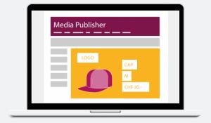 Unsere Smart Theme Werbebanner werden binnen Millisekunden bei der Auslieferung auf einer Webseite dynamisch mit Produkten aus der Converto Feed Master Engine befüllt.